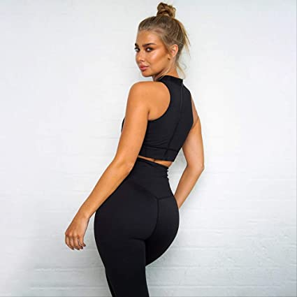 DSWVBGX 2019 Gym Fitness Clothing Women Sport Suit Back ...