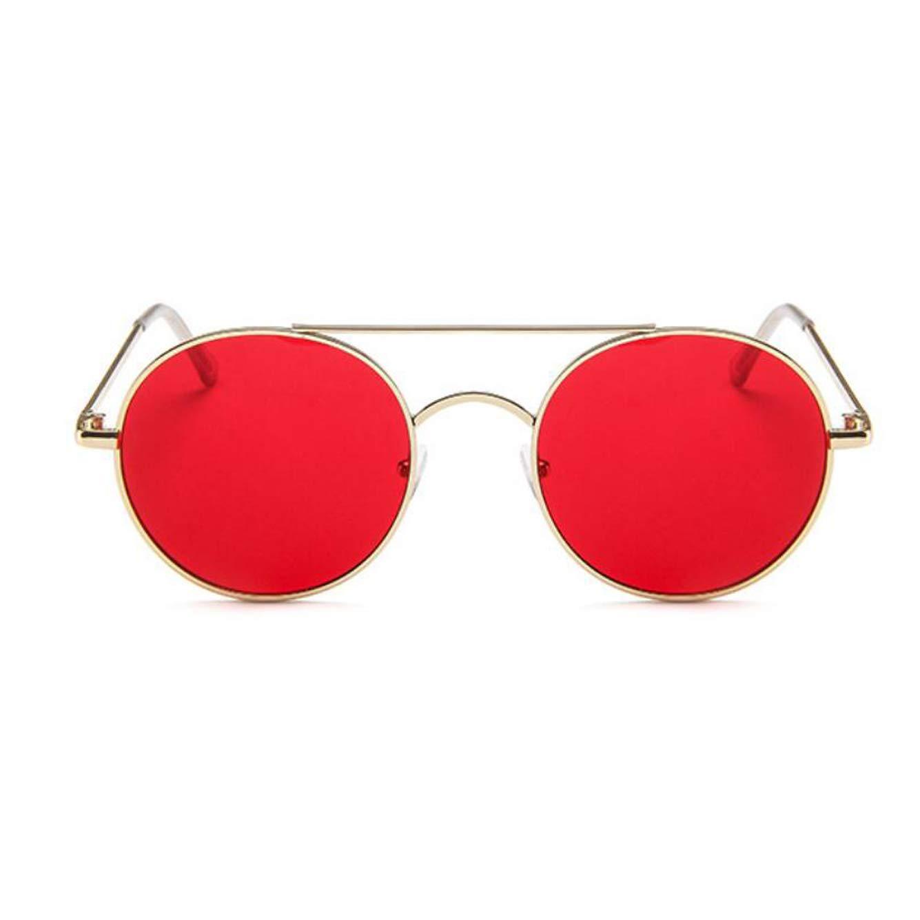 GAMT Round Sunglasses For Women Men Trend Metal Frame Ocean Piece Retro Double Beam Eyeglasses