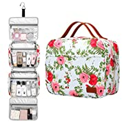 Bosidu Hanging Toiletry Bag for Men and Women, Large Capacity Waterproof Travel Toiletry Bag with 4 Compartments & 1…