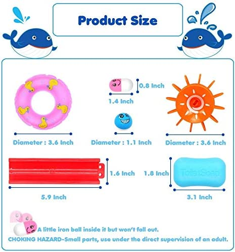 Fajiabao Kids Bath Toys Assemble Set Fun DIY Slide Indoor Waterfall Track Stick to Wall with Suction Cup and Wheels Water Ball Shower Floating Bathtub Toy Children Birthday Gifts for Boys Girls