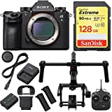 Sony Alpha a9 Mirrorless Interchangeable Lens Camera Body with DJI Ronin M 3-Axis Brushless Gimbal Stabilizer and Sandisk 128GB SDXC Memory Card Bundle