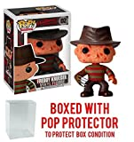 Funko Pop! Movies: A Nightmare on Elm Street – Freddy Krueger Vinyl Figure (Bundled with Pop BOX PROTECTOR CASE)