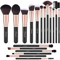 BESTOPE 18 PCs Synthetic Foundation Powder Concealers Eye Shadows Brushes Kit