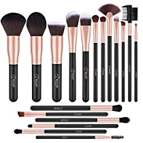 Makeup Brushes,BESTOPE 18PCS Makeup BrushSet Kabuki Brushes Synthetic Foundation Blending Blush Face Eyeliner Shadow Brow Concealer Lip Brush Kit (Rose Gold)