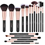 BESTOPE Makeup Brushes 18 PCs Makeup Brush Set Premium Synthetic Foundation Powder Kabuki