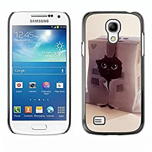 LECELL -- Funda protectora / Cubierta / Piel For Samsung Galaxy S4 Mini i9190 MINI VERSION! -- Funny Cute Cat --