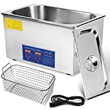 Mophorn Ultrasonic Cleaner 22L Total 1000W Commercial Ultrasonic Cleaner Professional Stainless Steel Industrial Ultrasonic Cleaner Jewelry Cleaner with Heater Timer(22L)