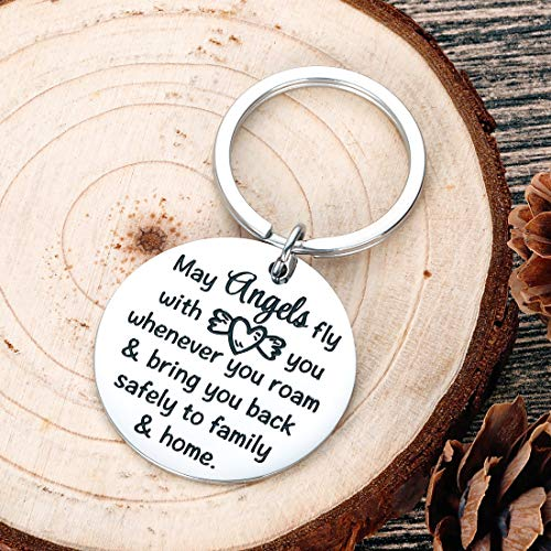 Traveller Prayer Key Chain Long Distance Journey Gifts Goodbye Farewell Leaving Going Away Parting Gifts Military Deployment Gifts for Him Her Boyfriend Son Daughter Going Off to College Gifts