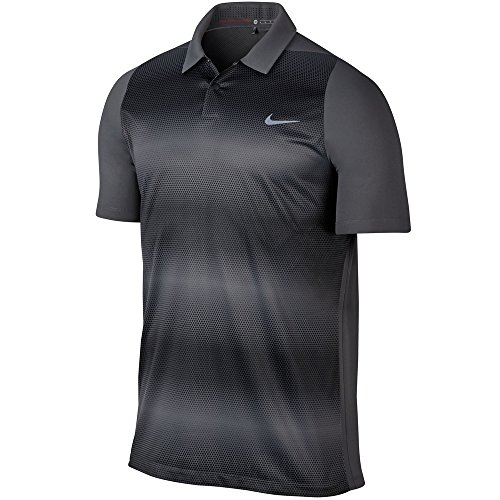 (TW VL MAX SPHERE STRIPE POLO DARK GREY/BLACK 803202-021 S)