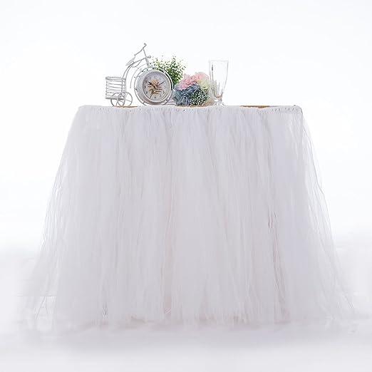 Ocamo Falda de mesa para boda, diseño elegante: Amazon.es: Hogar