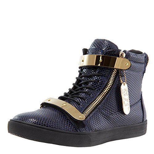 - Jump J75 by Men's Zion High-Top Fashion Sneaker Navy Stamp Patent 7.5 D US