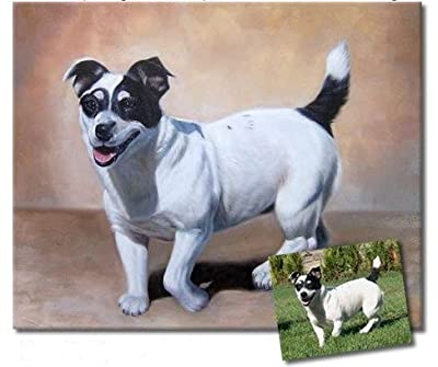 Sunteeny Handpainted Dog Cat Portrait Unique Custom Oil Painting from Picture Special Gift for you and your friend