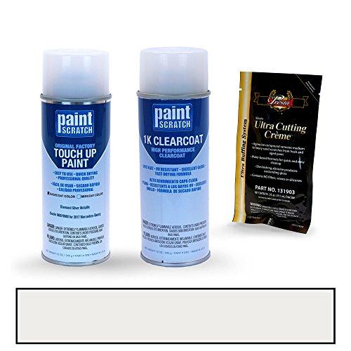 PAINTSCRATCH Diamond Silver Metallic 988/9988 for 2017 Mercedes-Benz C-Class - Touch Up Paint Spray Can Kit - Original Factory OEM Automotive Paint - Color Match Guaranteed