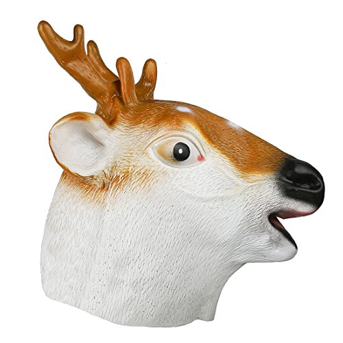 YUFENG Deer Mask Animal Mask Rubber Mask Full Head Mask for Holloween Party -
