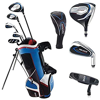 Top Flite Jr. Young Boys Compete Golf Set - Age 5 to 9 Height 46-52'' - RH/LH