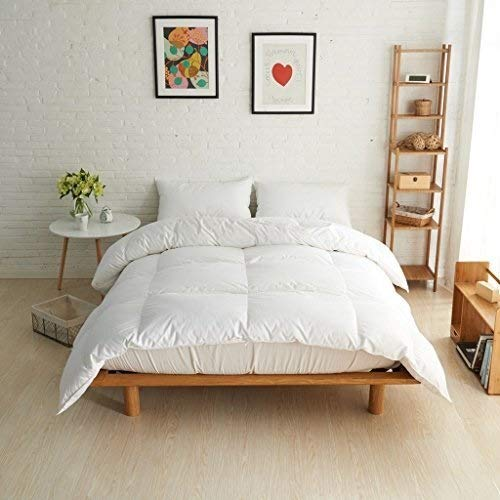YXNZ White Duck Down Duvet Feather & Down Quilt All Seasons Warmth Comforter 200x230cm Double Size Bed Linings