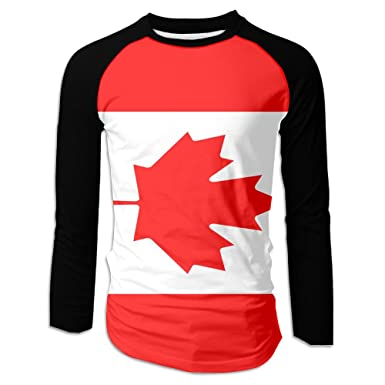 8a22b86fa MASDUIH 3D Print Flag Of Canada Mens Long Sleeve Shirt Vintage T Shirts  Baseball Shirt at Amazon Men's Clothing store: