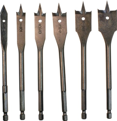 Makita  714171-A 6-Inch Spade Bit Set, Spurs, 6-Piece -