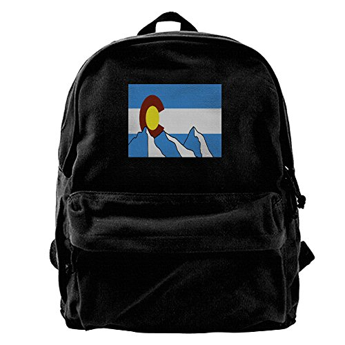 Colorado Flag Special Spacious Enough Unisex Canvas Backpack 11.8x15.74x5.5 Inch For Outdoor Daypack Fits 14 Inch Laptop ()