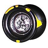 SPYY Dynamo Aluminum Yo-Yo - Fox and Hare- Black Gold Splash - Collectible!