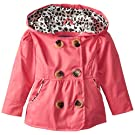 Pink Platinum Baby Girls' Double Breasted Trench, Fuchsia, 24 Months