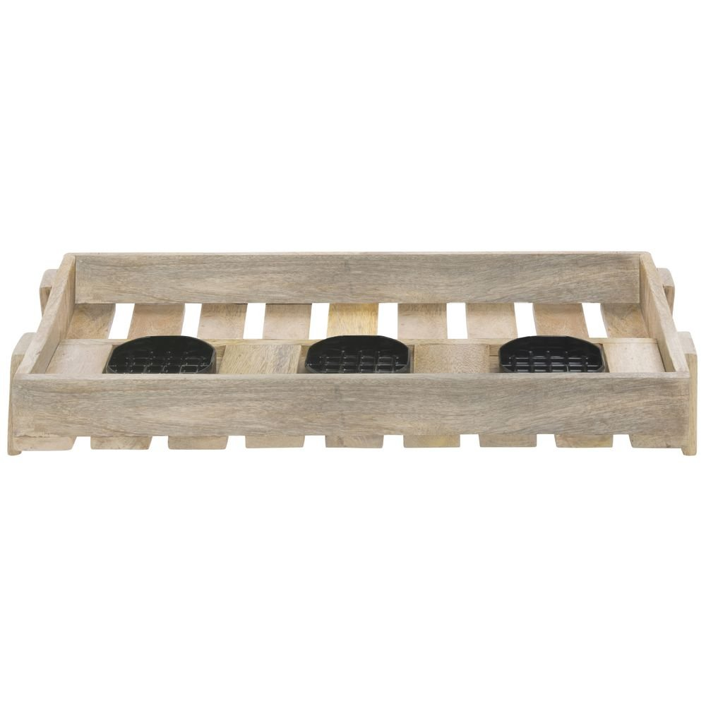 Wooden Airpot Holder For 3 Thermal Airpot Coffee Dispensers Mango Wood - 24''L x 13 1/2''W x 3 1/2''H