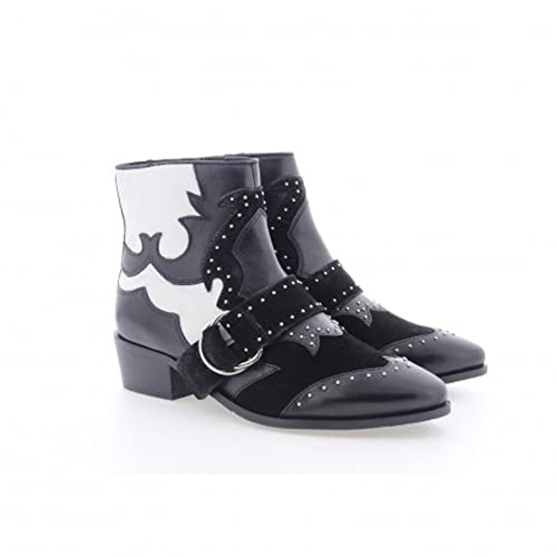newest fast delivery save up to 80% Bronx Women's Cowboy Ankle Boots (47026A-E-203), Black/White ...