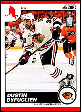 newest bd294 17726 Amazon.com: 2010-11 Score #54 Dustin Byfuglien NM-MT+ ...