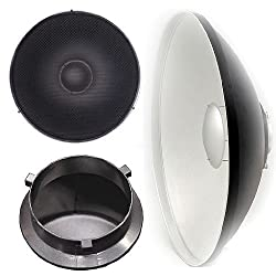 Ephoto 22 Inch Photography Studio Light Lighting Beauty Dish Reflecto Disc For Travelite Bowen With Grid A121honey