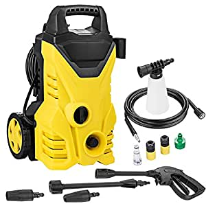 Christmas Gifts New Year Gifts Dtemple 1800PSI 1.3GPM 1400W Electric High Pressure Washer with Hose Reel for Homes, Cars, Driveways (US STOCK)