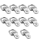 TooTaci 10-Pack D Ring Tie Down Ring Load Anchor Trailer Anchor Forged Lashing Ring, Surface Floor Mount Tie Down Ring,1200 Pound Capacity for Safe and Secure Hauling
