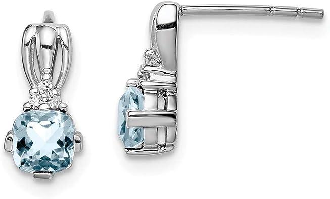 Mia Diamonds 925 Sterling Silver Solid Aquamarine Ring