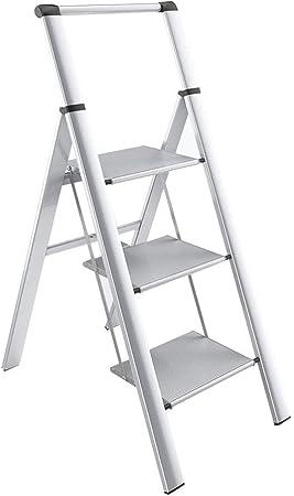 XHhhhhh Escalera de Tres Pisos de Escalera de aleación de Aluminio, Silla de Escalera de Cocina Escalera retráctil multifunción para el hogar 50X82X138cm: Amazon.es: Hogar