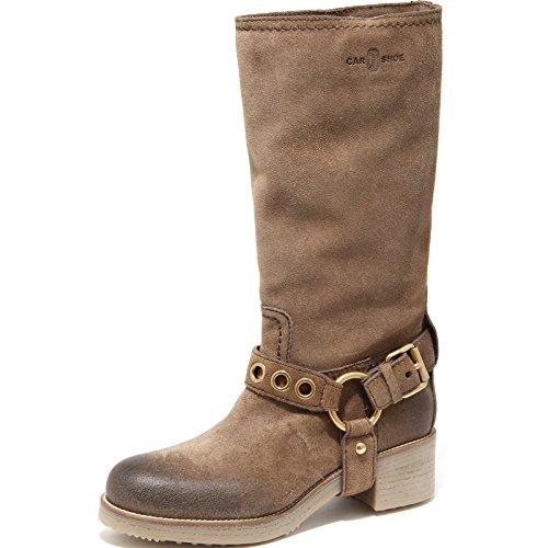 Car Shoe Beige Vintage 68198 Stivale Scuro Women Donna Scarpa Boots Shoes w6qOHwT4