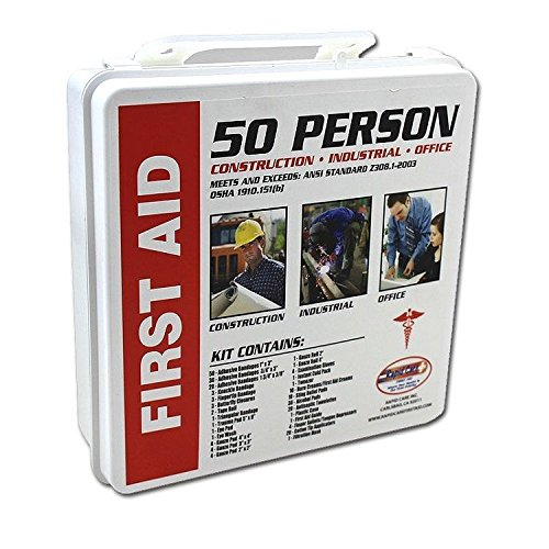 50 Person First Aid Kit Osha Ansi Home office Warehouse Construction Safety ()
