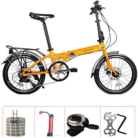 SYLTL Bicicleta Plegable Doble Freno de Disco 20in Aleación de ...