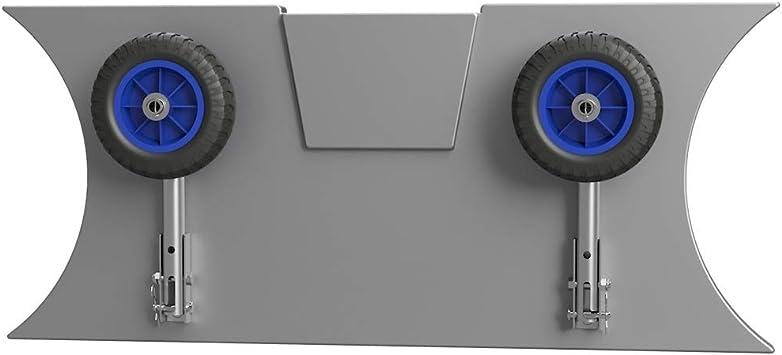 pour annexes SUPROD Roues de halage Roues de Mise /à leau MD200 Acier Inoxydable A4 Gris//Bleu