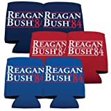 VictoryStore Can and Beverage Coolers - Reagan and Bush '84, Set of 6