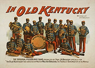 In old Kentucky - African American Band Poster