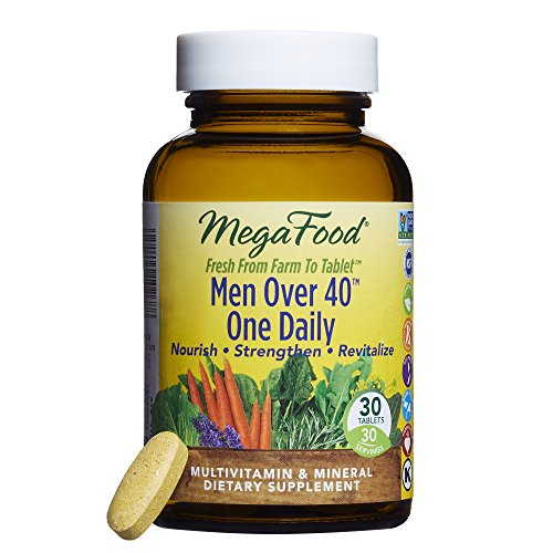 40 One Daily, Multivitamin Support for Healthy Energy Levels, Prostate Function, Mood, and Bones with Zinc and B Vitamins, Vegetarian, Gluten-Free, Non-GMO, 30 Tablets (FFP) (Women Only 30 Tabs)