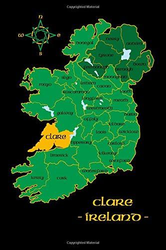 Map Of Ireland County Clare.Clare Ireland County Map Irish Travel Journal Republic Of Ireland