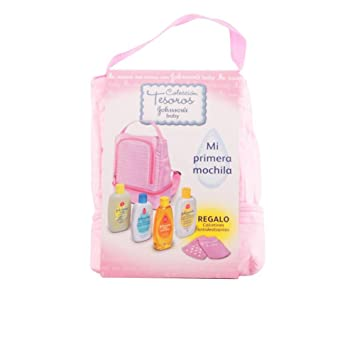 Amazon.com : JOHNSON S BACKPACK PINK GEL 200ML + 200ML EAU DE COLOGNE 200ML + BODY MILK + Shampoo 200ml + ANTIDESLIZANTES SOCKS : Beauty