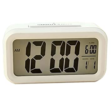 Angke Digital reloj despertador, reloj digital, alarma de batería reloj grande pantalla Snooze Reloj Inteligente con progresivo alarma funciona ...