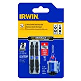 IRWIN 1903503 Impact Performance Series Double-Ended Screwdriver Power Bit Set with Magnetic Screw Hold, Square, 2 3/8-Inch, 3-Piece