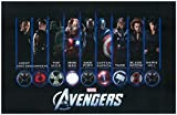 #6: The Avengers Poster Montage Iron Man Captain America Hulk Thor Black Widow Hawkeye Coulson Fury Hill 11 x 17 Litho