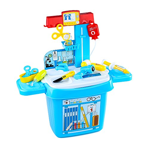 Youtop Doctor Play Set Medical Table Pretend Play w/ Storage