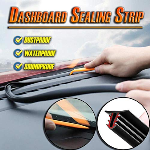 Vacally Upgrade Car Rubber Sound Seal Strip 62.99inch U-Type Dashboard Edges Sealing Strips Door Window Draught Excluder Strip,Reduce Sound, Prevent Noise and Vibration, White (Curved Bath Shower Screen Rubber Plastic Seal)