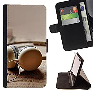DEVIL CASE - FOR Sony Xperia Z1 Compact D5503 - Earplug - Style PU Leather Case Wallet Flip Stand Flap Closure Cover