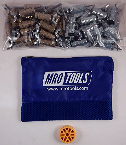 25 3/16 & 25 3/32 Standard Wing-Nut Cleco Fastener w HBHT Tool & Bag (KWN4S50-5) by MRO Tools Cleco Fasteners