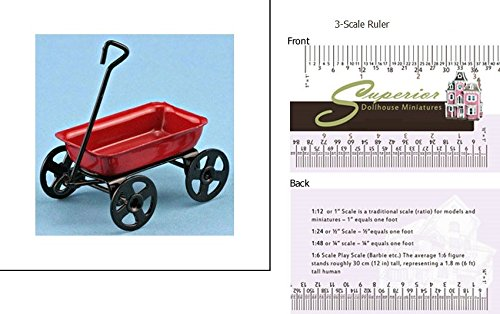 Dollhouse Miniature Small Red Wagon ()